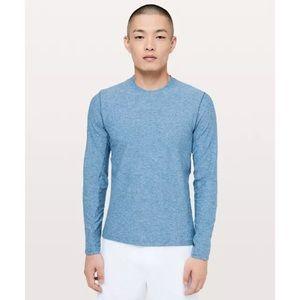 Lululemon Surge Warm Long Sleeve Light Blue Rulu**